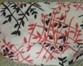 Very Pretty Oriental Vintage Fabric Asian Print