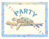 Turtle Party invitation