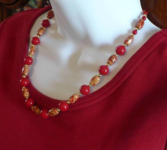 Red Coral Necklace // SRAJD