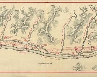 Alaska Fairbanks Map 1906
