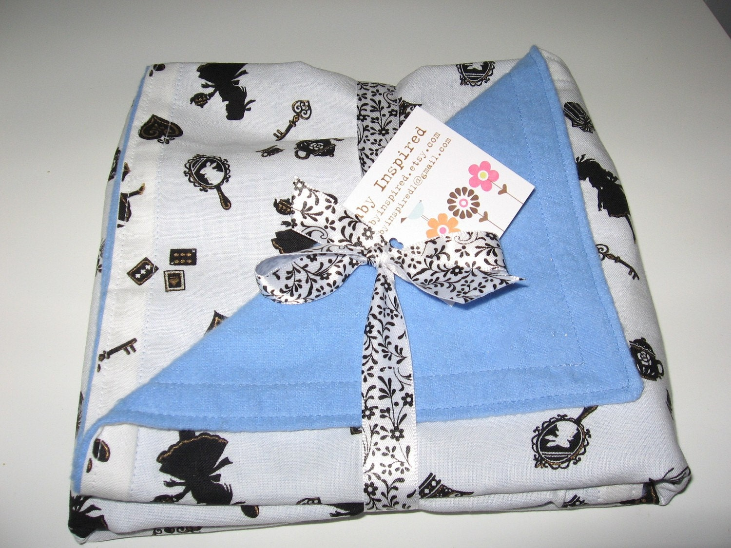 Alice In Wonderland Baby Recieving Blanket