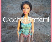 Mono-kini for Barbie PDF Crochet Pattern INSTANT DOWNLOAD