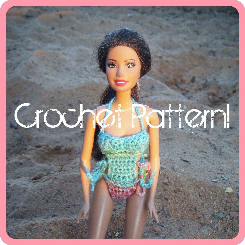Mono kini for barbie pdf crochet pattern instant download - Barbie chanteuse ...