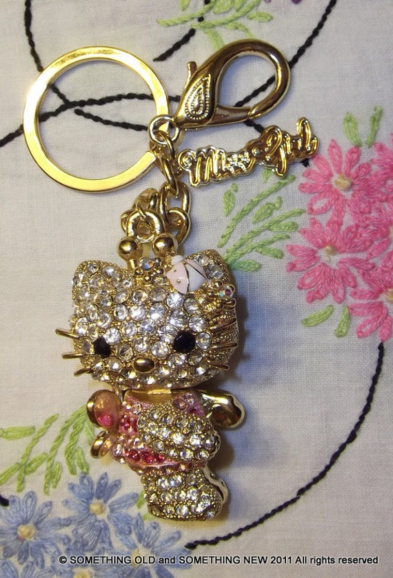 Absolutely Beautiful and Adorable Hello Kitty key chain charm. Price reduced