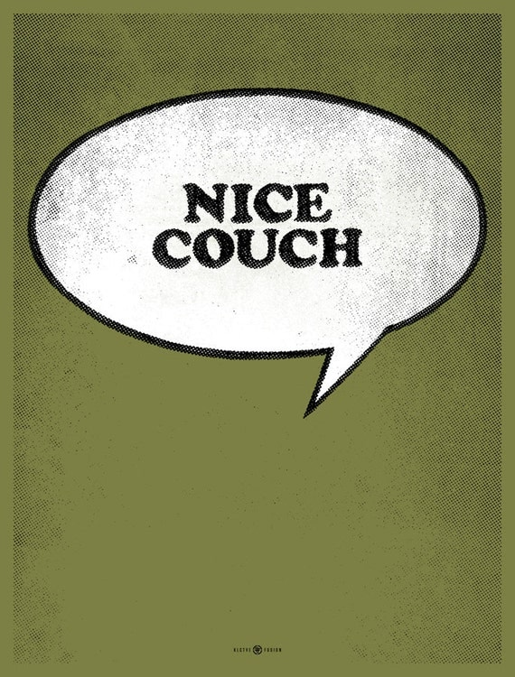 Nice Couch screen print