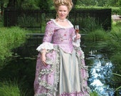 18th century, Robe à la polonaise, gown, Marie Antoinette inspired, gregorian, colonial, baroque, rococo