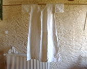 c1930 French linen nightgown or chemise