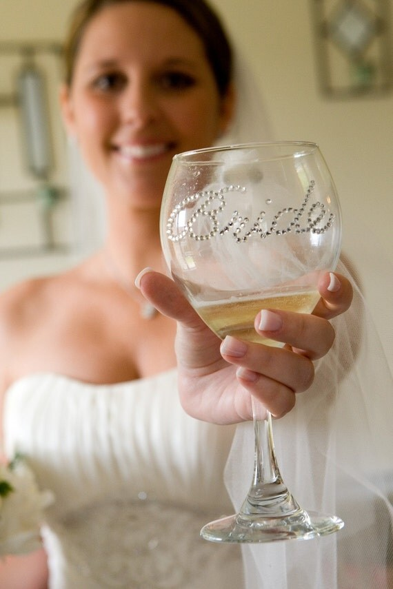 Bride Wine Glass- Wedding