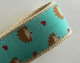 Key fob - Wristlet Style Hedgehog Heaven