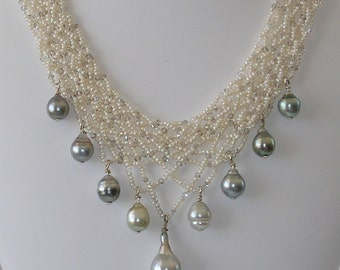 Bridal Tahitian Pearl Necklace