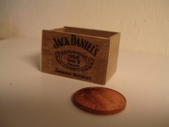 Miniature Jack Daniels crate