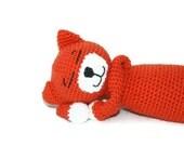 Crochet Amigurumi Cat Orange and White Tabby