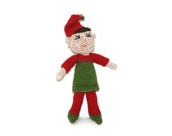 Boy Crochet Elf Christmas Doll Amigurumi