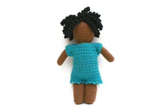 Crochet Faceless Doll Amigurumi African American - RESERVE