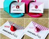 Printable Card Design. Love Notes: Sealed with a Kiss Valentine. Pinkadot Shop