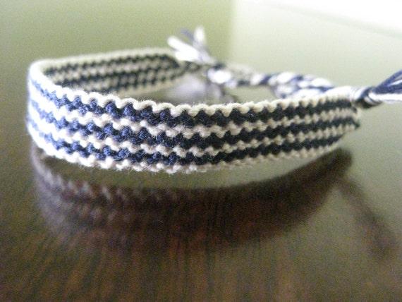 Yankees Pin Stripe Friendship Bracelet