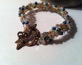 Baubles and Bubbles Dragonfly Crochet Bracelet