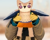 Astonished  owl soft art toy by Wassupbrothers