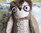 RESERVED Flower Lace  Owl