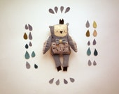 Frederic - Little prince owl, soft art  toy  by Wassupbrothers