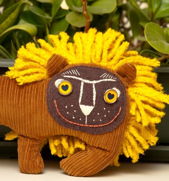 Little Sunshine Plush Lion, soft art  toy by Wassupbrothers.
