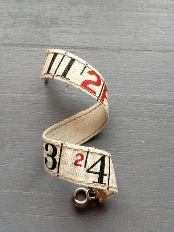 Linen Ruler Bracelet - 7 1/2 inches - Unisex