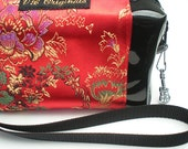 Reserved for Leonia   Do not buy unless you are she    Ruby Red Satin Clutch Bag