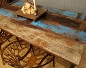 CLEARANCE SALE Blue Rustic Modern Dining Table Reserved for Katherine