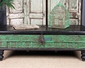 SALE Green Trunk Coffee Table