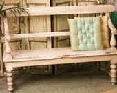Antique Shabby Chic Bench