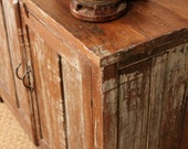 Rustic Media Center Stand Distressed Buffet