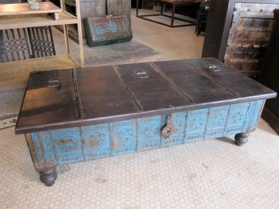Blanket Box Trunk Locking Coffee Table - Reserved