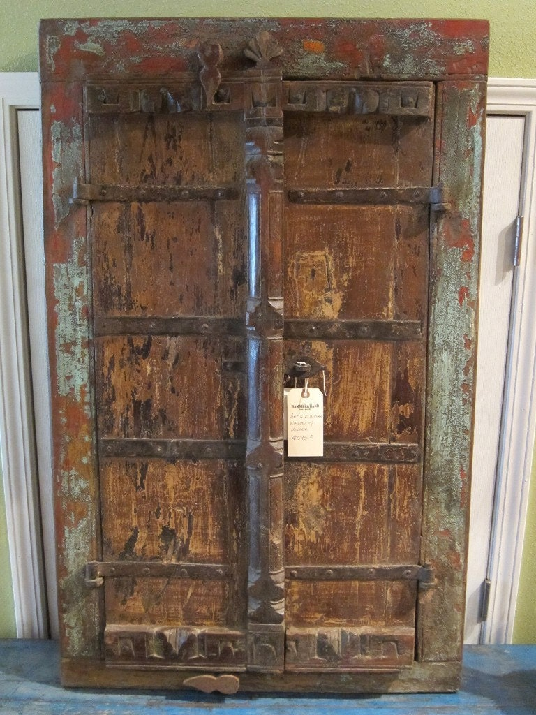 Antique Indian Window Shutter Mirror