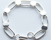 3 Silver Plated Bracelet Form for Crafting and Embellishing 7.5 inches LARGE