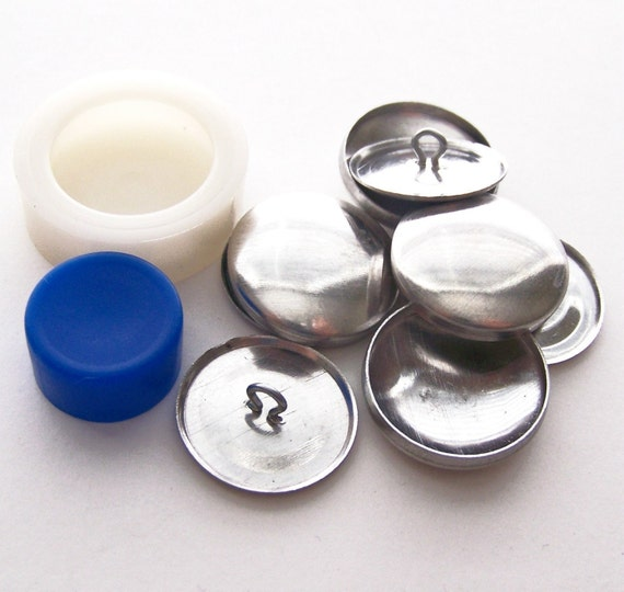 Aluminum Buttons to Cover 3/4 inch 30 line Starter Kit Includes Assembly Tool     FREE PDF TUTORIAL Included    Kit Makes 10 buttons