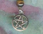 STRENGTH AND COURAGE Pentacle Necklace Silver Tiger Eye Reds