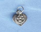 Heart Pentacle Pentagram Silver Wiccan Jewelry PWCC-P001