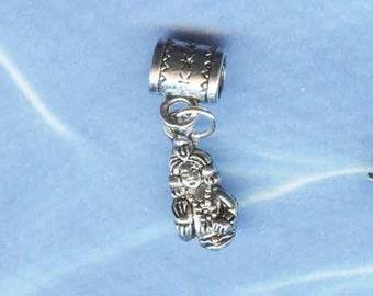 Silver Primitive Goddess Lr Hole Bead Fits All European Add a Bead Charm Bracelet Jewelry PND0GH06