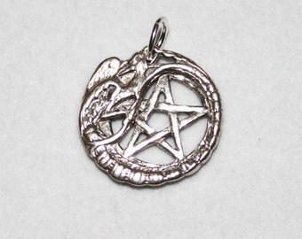 Griffin Gryphon Pentacle Sterling Silver Pent016