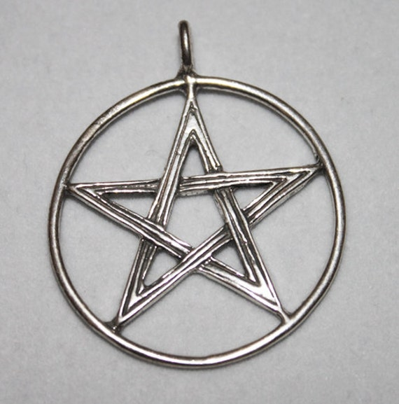 Wiccan Jewelry Large Masculine Pentacle Pentagram P006