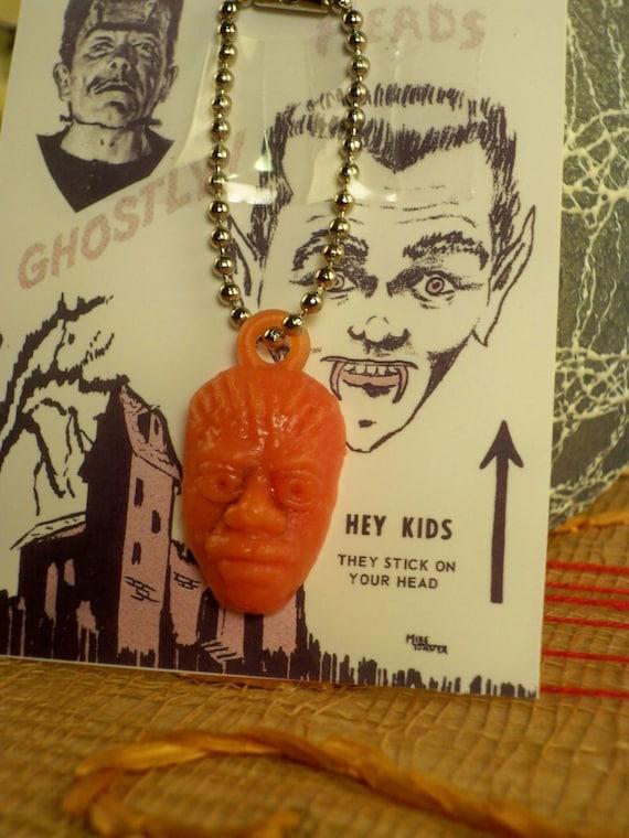 Vintage '60s Monster Fink Gumball Charm Keychain- Orange