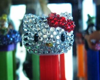Hello Kitty red bow rhinestone encrusted Pez Dispenser