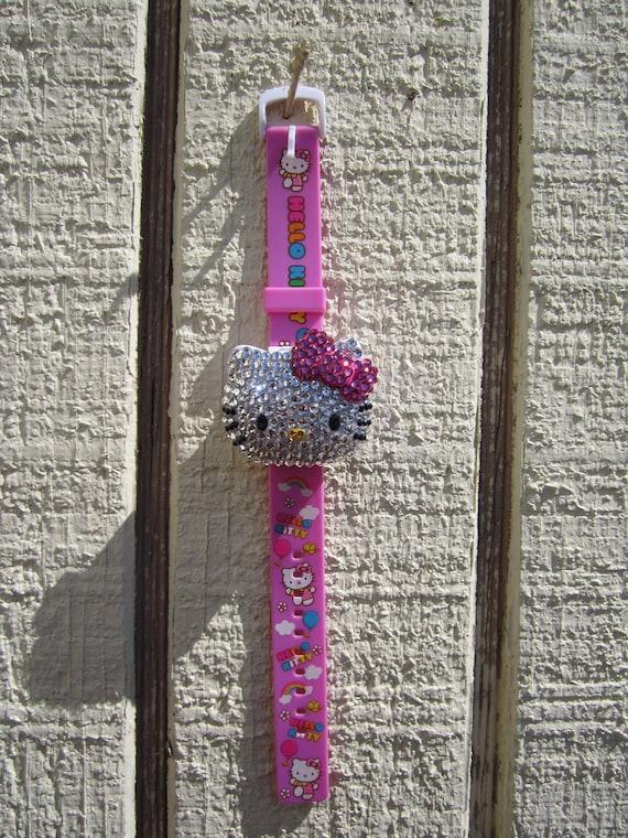 Hello Kitty rhinestone musical watch