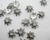 10pcs Antique Silver Bali Bead Caps great for adorning necklace, pendants, bracelets and more