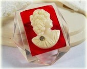 Red Cameo Brooch