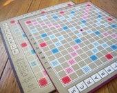Vintage Scrabble Boards Set of 2