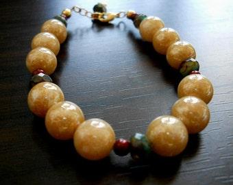 STAR DUST-Vintage Swarovski Golden Mottled Pearls Mini Bordeaux Swarovski Pearls Bracelet