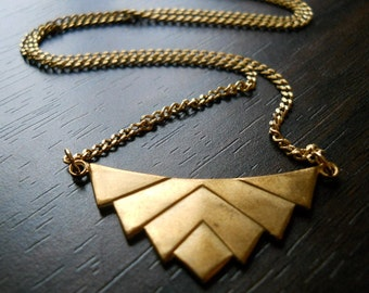 Eclate'- Geometric Chevron Necklace