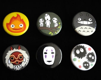 Studio Ghibli 6 Button Set