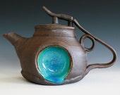 Blue Moon Jr. Teapot , Handmade Stoneware Teapot